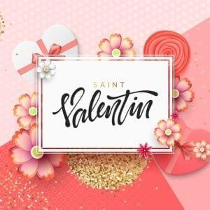 Saint Valentin Day Greeting Card