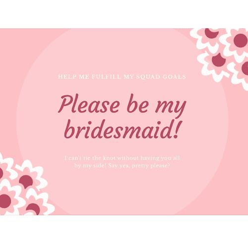 Be my bridesmaid Gift Card