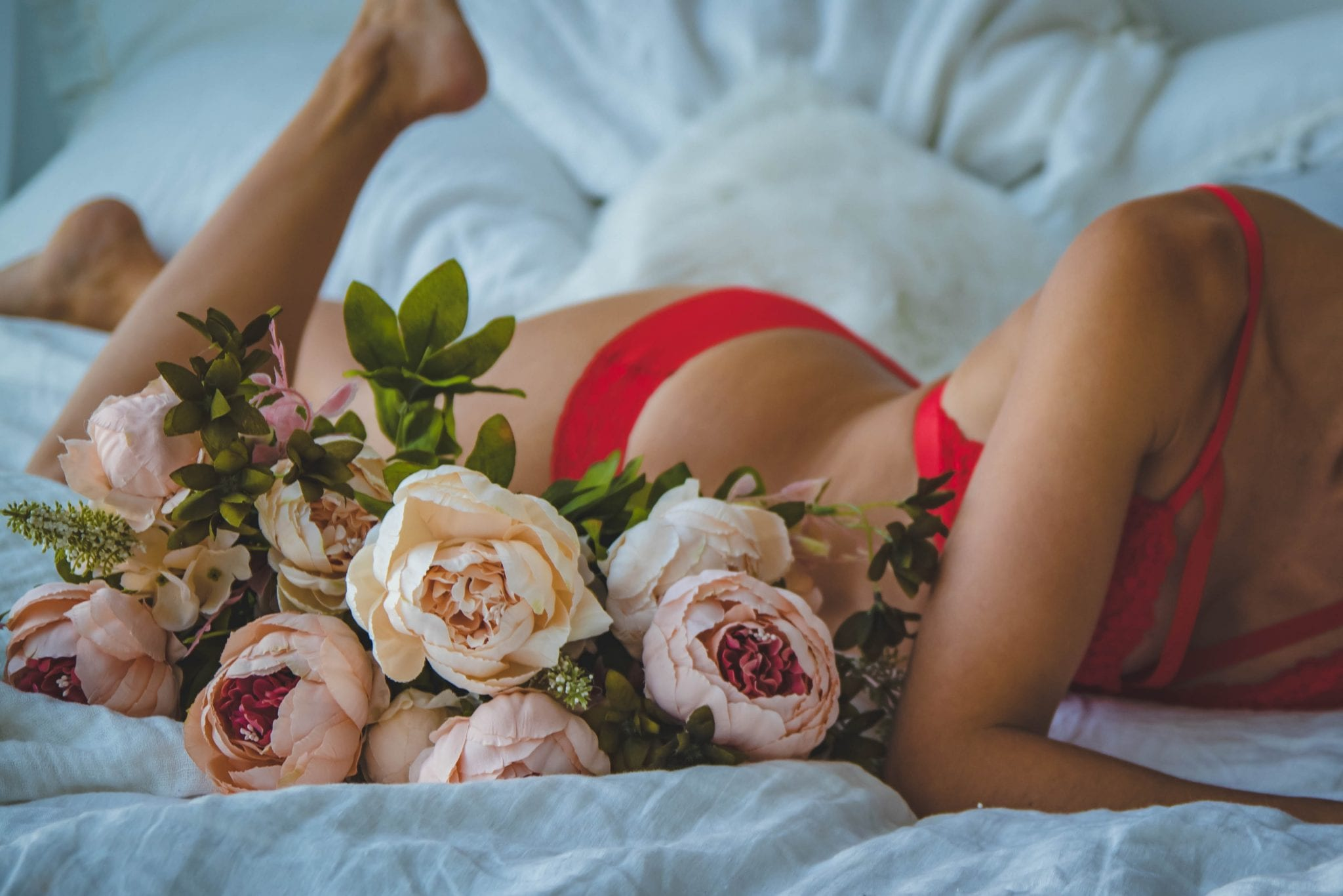 lingerie and flowers