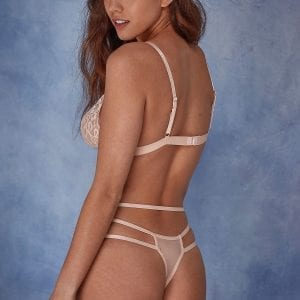 Lace Peach thong and bra