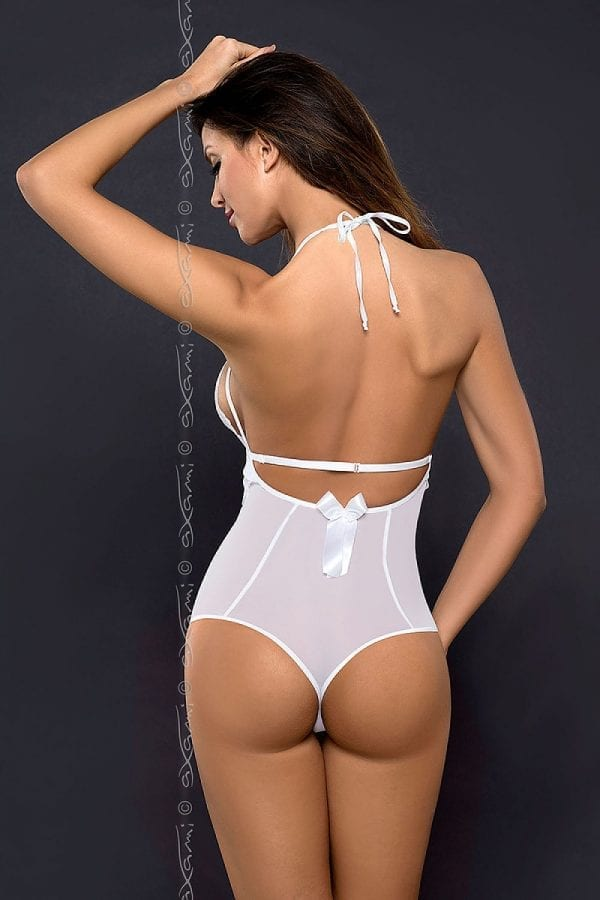 lingerie teddy white lace