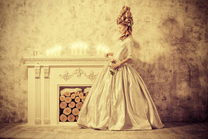 Lady in Dress_former times