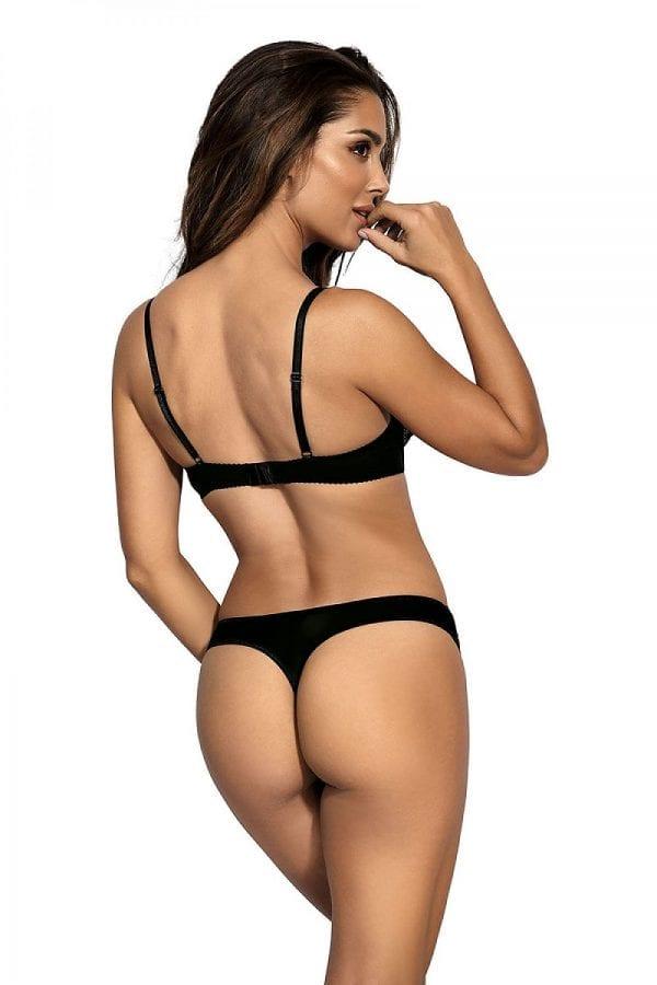 Black bra and thong