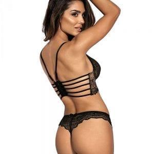 Black lace thong
