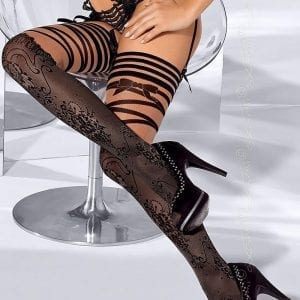 Black Patterned Stockings