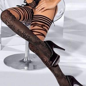 Black Patterned Stockings