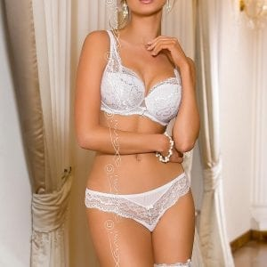 White lace bridal lingerie