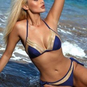 Royal Blue Triangle Bikini