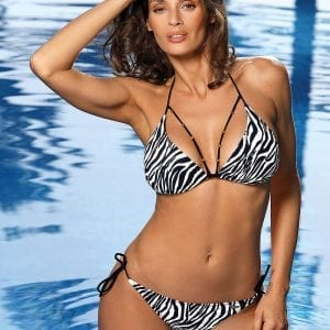 Black & White Striped Bikini