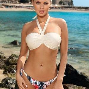 White Halter Neck Bikini