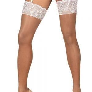 White translucent stockings