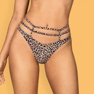 Leopard Print Thong