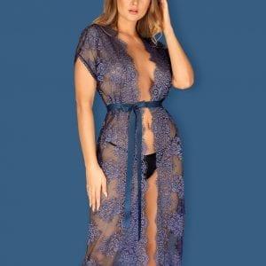 Peignoir in Blue Lace