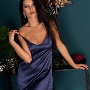 Blue Satin Nightdress