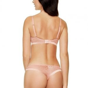 Copper Pink Thong & Soft Bra
