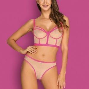 Lingerie Set in Pink& Beige